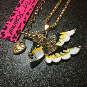 Betsey Johnson B & Y Hummingbird Necklace